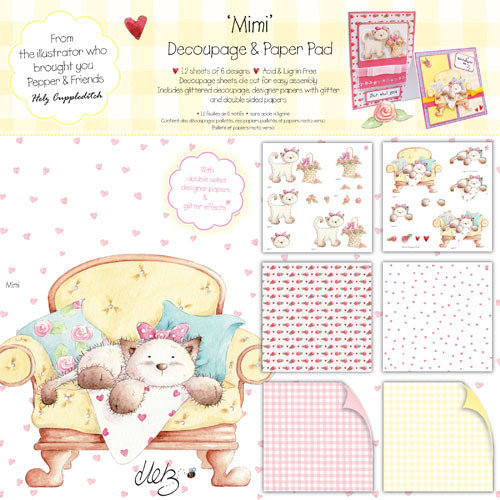 Pack de Hojas/Decoupage 8x8 Mimi the Kitten by Helz Cuppleditch
