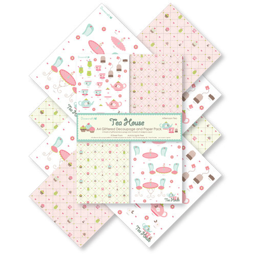 "Pack de Hojas Dovecraft A4 ""Tea House - Afternoon Tea"""