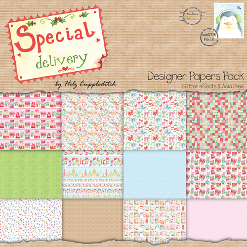 Pack de Hojas 12x12 Special Delivery by Helz Cuppleditch