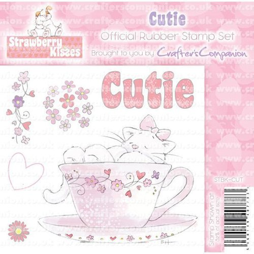 "Sello de caucho para montar Strawberry Kisses ""Cutie"""