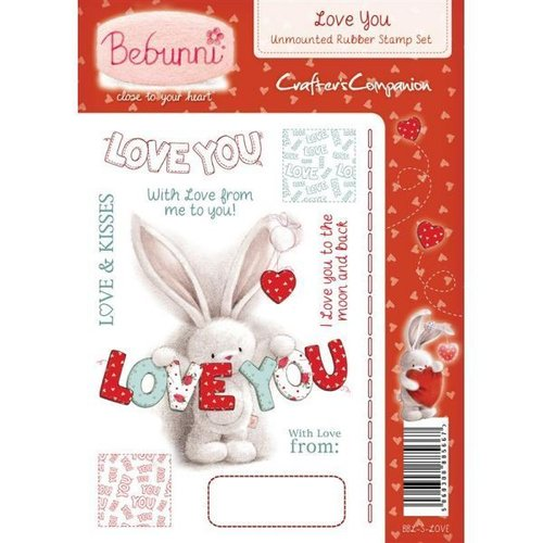 Sello de caucho para montar Bebunni - Love You