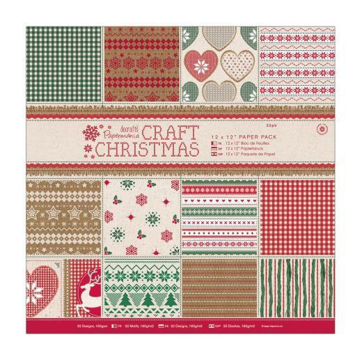 Pack de Hojas Docrafts 12x12- Craft Christmas