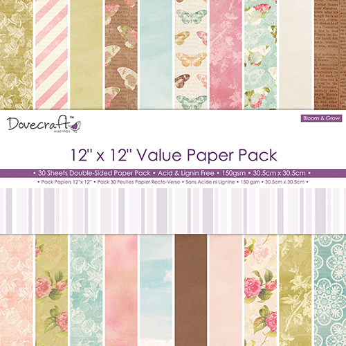 Pack de Hojas Dovecraft 12x12 - Bloom Grow Value