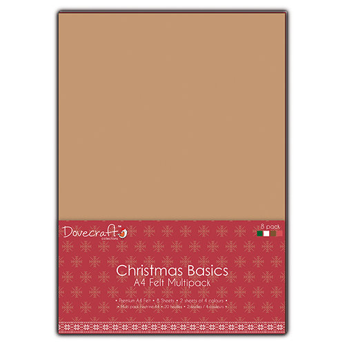 Multipack de fieltro A4 Christmas Basics
