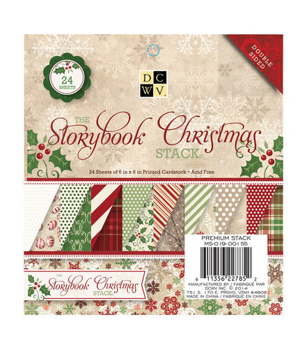 DCWV Papel 6x6. The Storybook Christmas Stack