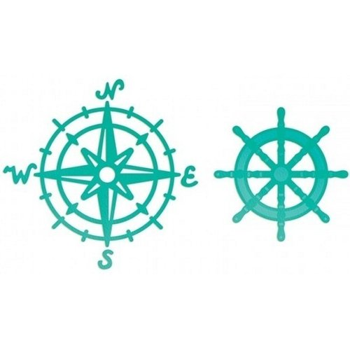 Troquel Intricutz Dies- Sea Breeze Compass and Wheel