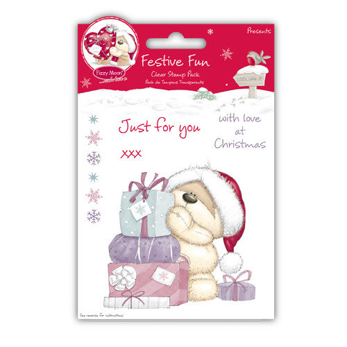 "Clear Stamp Fizzy Moon Festive Fun - ""Presents"""