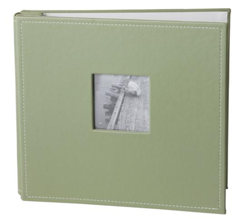 Album 12x12 10 page top load Faux leather Green