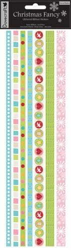 Ribbon Stickers - Christmas Fancy - Snowflakes