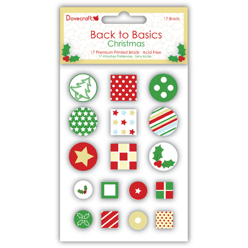 Dovecraft Christmas Back to Basics Brads