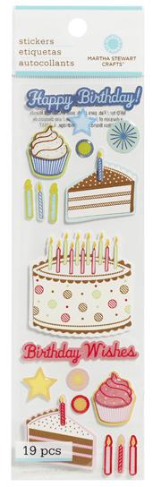 Swell Happy Birthday Cakes Stickers Martha Stewart Funny Birthday Cards Online Fluifree Goldxyz
