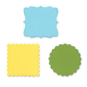 Sizzix Sizzlits Die - Decorative Circles & Squares Set