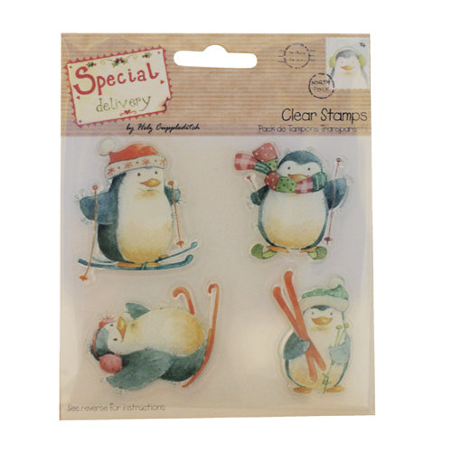 Clear Stamps Special Delivery Penguins