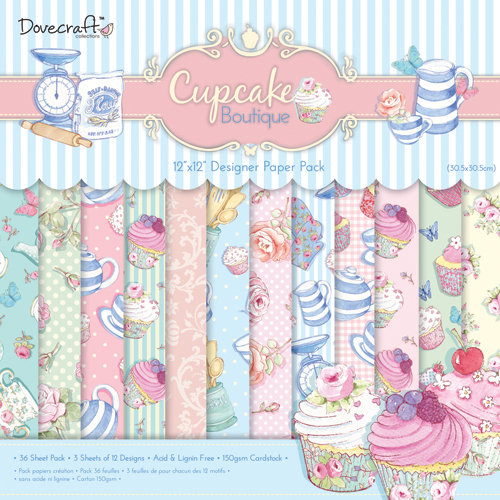 Cupcake Boutique 12x12 Paper Pack Dovecraft
