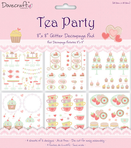 Pack de Hojas/Decoupage 8x8 Dovecraft Tea Party