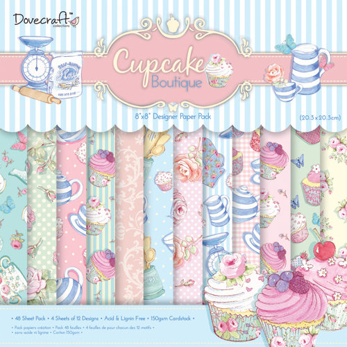 Cupcake Boutique 8x8 Paper Pack Dovecraft
