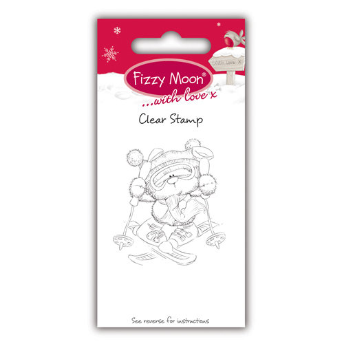 Clear Stamp Fizzy Moon Skiing
