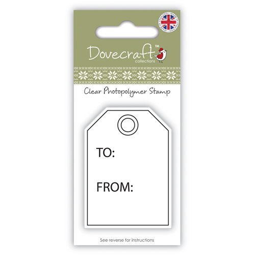 Clear Stamp Dovecraft Gift Tag