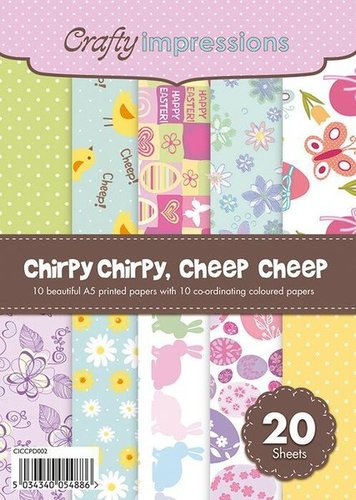 A5 Patterned & Plain Pad Crafty Impressions Chirpy Chirpy, Cheep Cheep