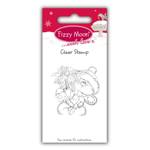 Clear Stamp Fizzy Moon Poinssetia