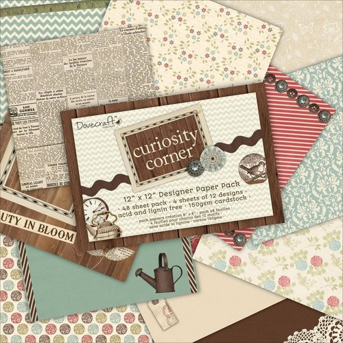 Dovecraft Curiosity Corner 12x12 Backing Paper Pack