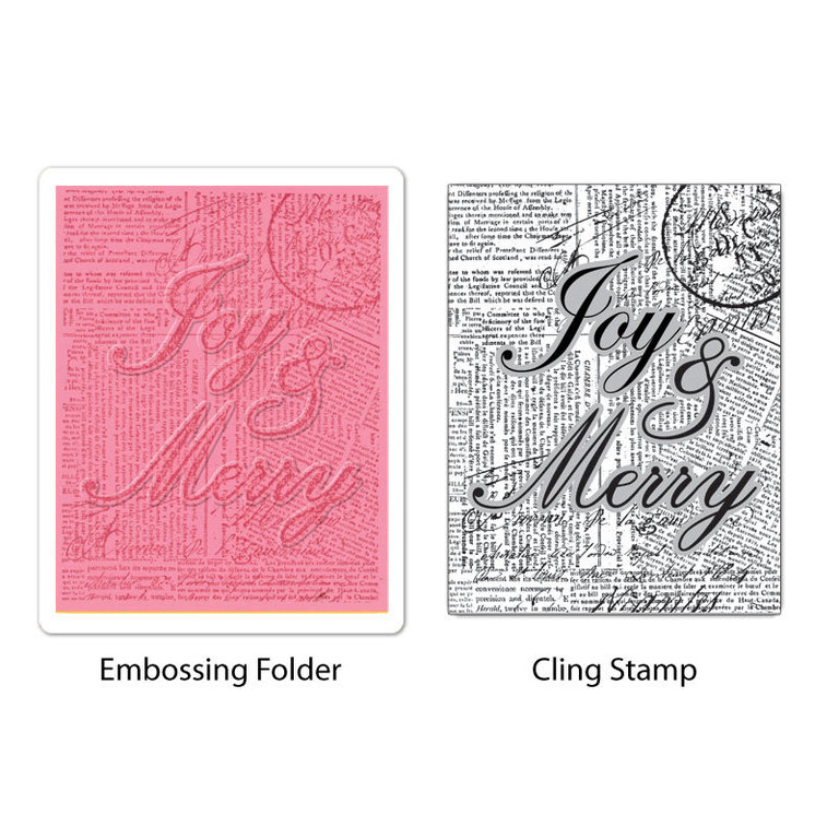 Sizzix Stamp & Emboss - Joy and Merry Set