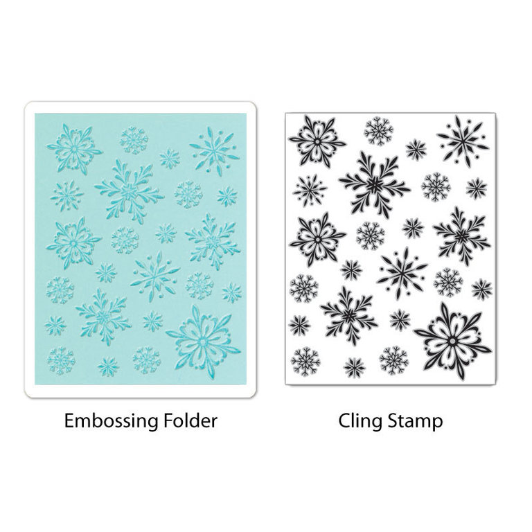 Sizzix Stamp & Emboss - Snowflake Background Set