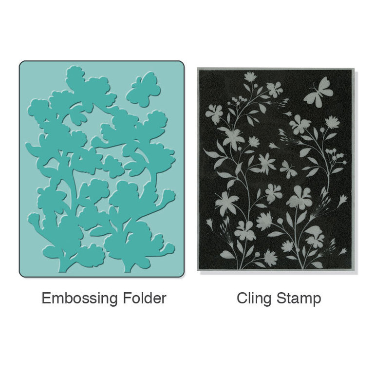 Sizzix Stamp & Emboss - Sihouette vines set