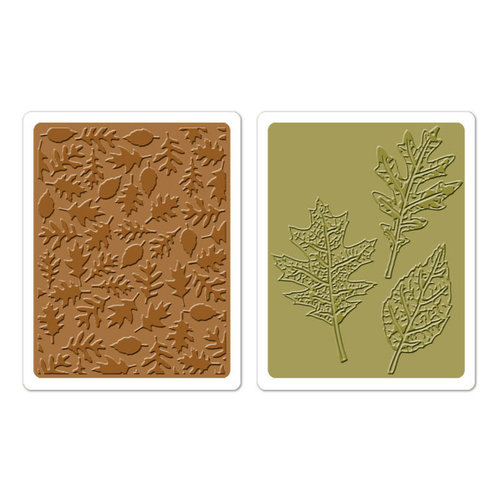 Sizzix Textured Impressions Embossing Folders -Textured Leaves set- Tim Holtz