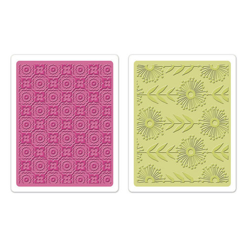 Sizzix Textured Impressions Embossing Folders - Psychedelic Dreams Set
