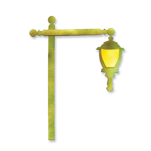 Sizzix Sizzlits Die - Flagpole w/lantern and sign