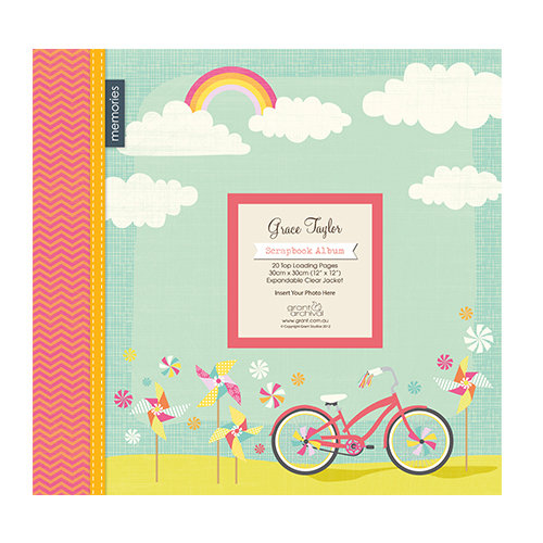 "Álbum 12"" x 12"" Happy Days Bicycle Ride de Grace Taylor"