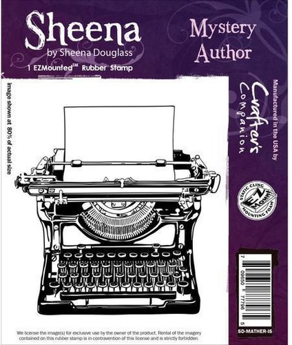 Sello de caucho montado Sheena: Mystery Author