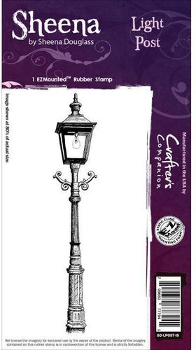 Sello de caucho montado Sheena:Farola- Light Post