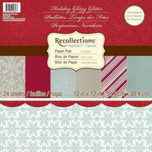 Holiday Glitzy Glitter Paper Stack by Recollections