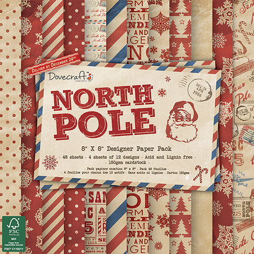 Pack de Hojas Dovecraft 8x8 North Pole