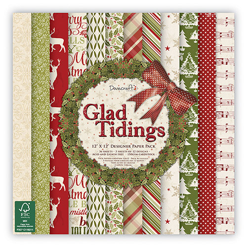 Pack de Hojas Dovecraft 12x12 Glad Tidings