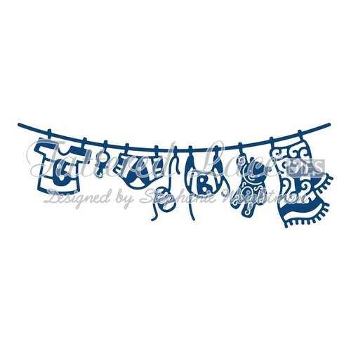 Tattered Lace dies: Baby Boy Washing Line