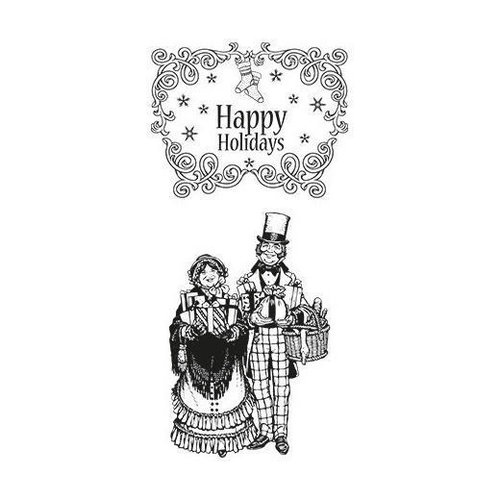 Sello de caucho autoadherente Marianne design- Happy Holidays