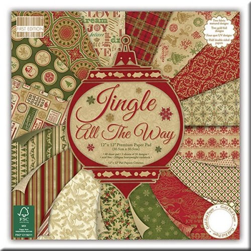 "Bloc de Hojas First Edition 12"" x 12"" - Jingle All the Way"