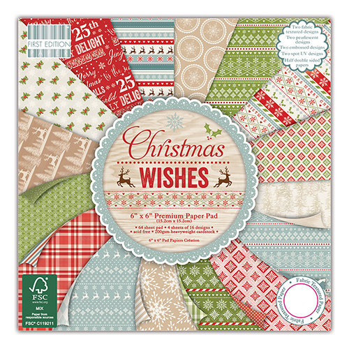 "Bloc de Hojas First Edition 12"" x 12"" - Christmas Wishes"