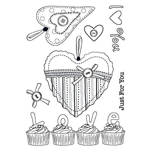 "Sello de silicona ""Love Cupcakes"""
