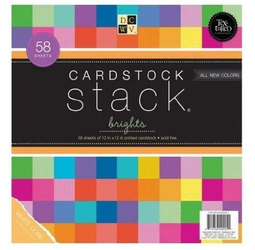 12X12 Brights Cardstock Stack by DCWV