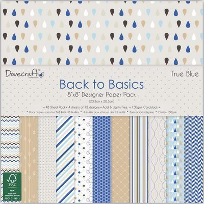 Pack de Hojas Back to Basics 8x8- True Blue