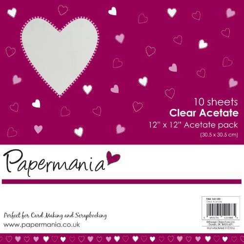 12x12 Papermania Clear Acetate Sheets