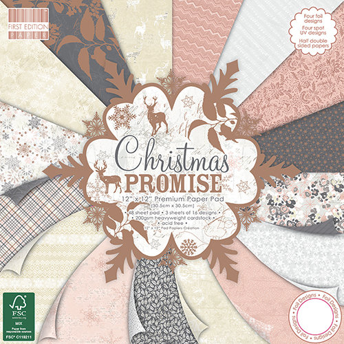 "12"" x 12"" Designer Paper Pad Christmas Promise"