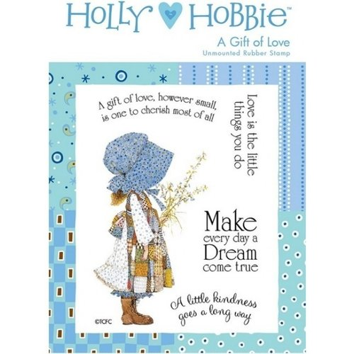Sello de caucho para montar Holly Hobbie - Un Regalo de Amor