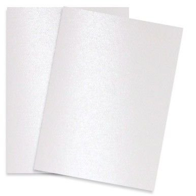 A4 Paper Pack DCWV- Shimmer Cardstock Pearl