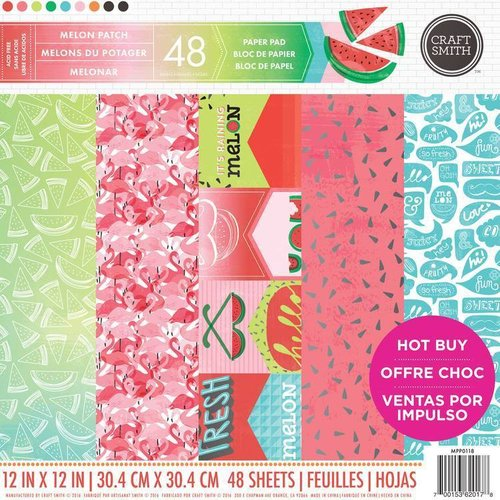"Bloc de Papel Craft Smith 12x12 ""Melonar"""
