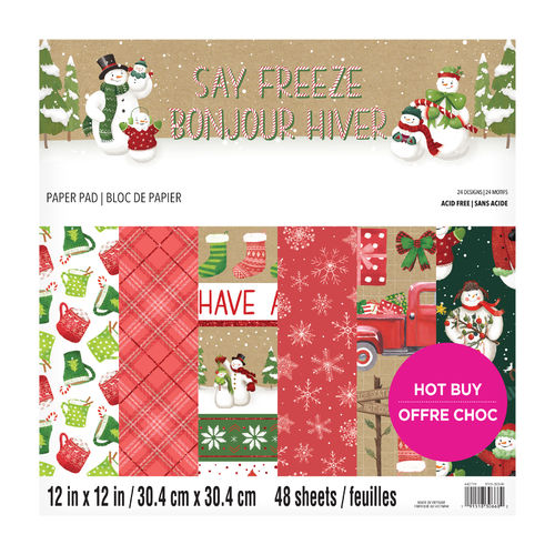 "12x12 Craft Smith Paper Kit ""Say Freez""2"